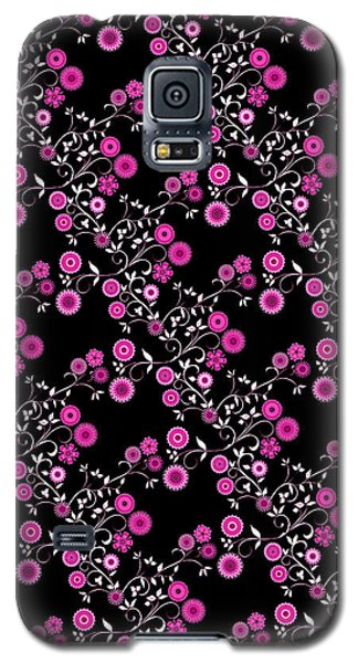 Galaxy S5 Case featuring the digital art Pink Floral Explosion by Methune Hively