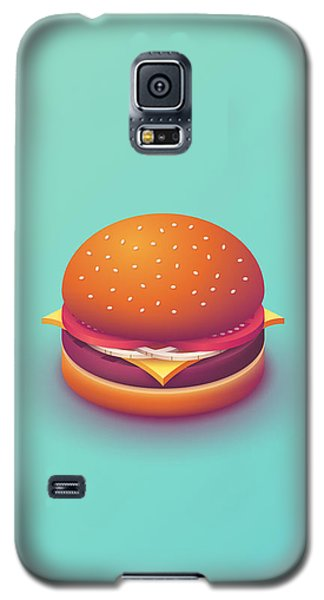 Galaxy S5 Case - Burger Isometric - Plain Mint by Ivan Krpan