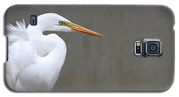 Portrait Of An Egret Rectangle Galaxy S5 Case