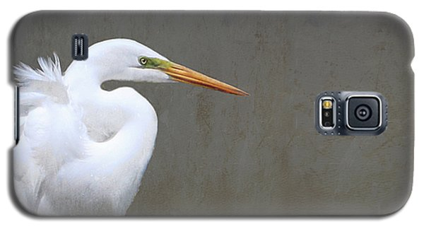 Portrait Of An Egret Rectangle Galaxy S5 Case