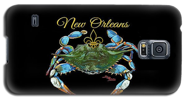 Louisiana Blue On Red Galaxy S5 Case by Dianne Parks