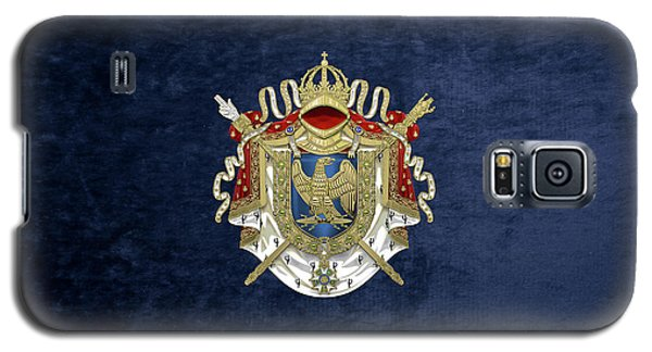 Greater Coat Of Arms Of The First French Empire Over Blue Velvet Galaxy S5 Case