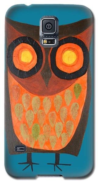 Give A Hoot Orange Owl Galaxy S5 Case