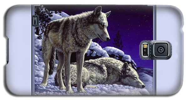 Wolf Painting - Night Watch Galaxy S5 Case by Crista Forest