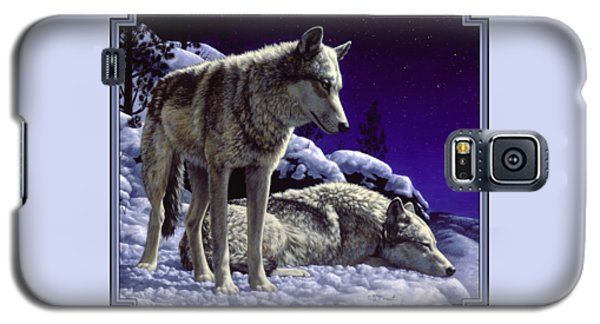 Wolf Painting - Night Watch Galaxy S5 Case