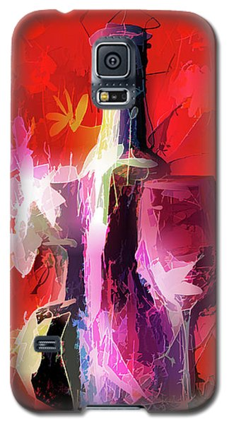 Fun Colorful Modern Wine Art   Galaxy S5 Case