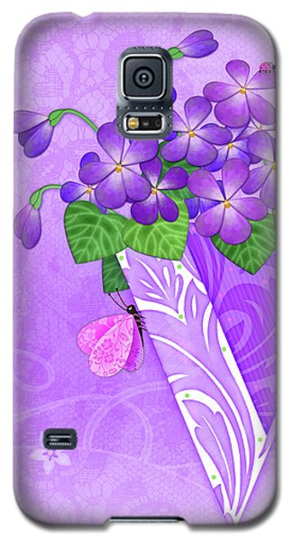 V Is For Violets Galaxy S5 Case