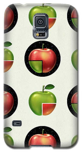 Divided Apple Pattern Galaxy S5 Case