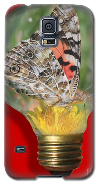 Butterfly In Lightbulb Galaxy S5 Case