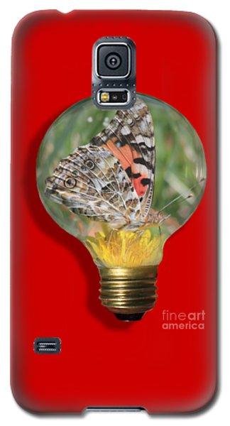 Butterfly In Lightbulb Galaxy S5 Case