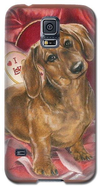 Galaxy S5 Case featuring the mixed media Please Be Mine by Barbara Keith