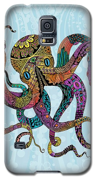 Galaxy S5 Case featuring the drawing Electric Octopus by Tammy Wetzel