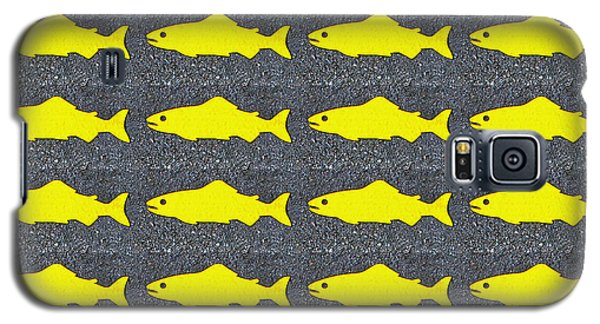 Galaxy S5 Case featuring the photograph Yellow Fish by Ethna Gillespie