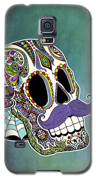 Mustache Sugar Skull Galaxy S5 Case