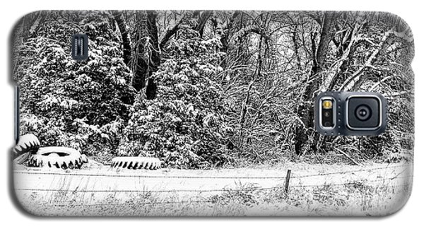 Galaxy S5 Case featuring the photograph Three Tires And A Snowstorm by Bill Kesler