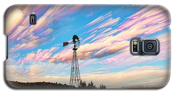 Galaxy S5 Case featuring the photograph Crazy Wild Windmill by Bill Kesler