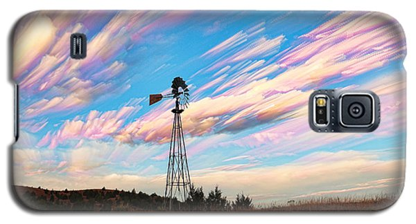 Crazy Wild Windmill Galaxy S5 Case by Bill Kesler