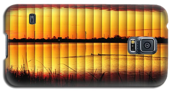 Galaxy S5 Case featuring the photograph Magnificent Sunrise Swim by Bill Kesler