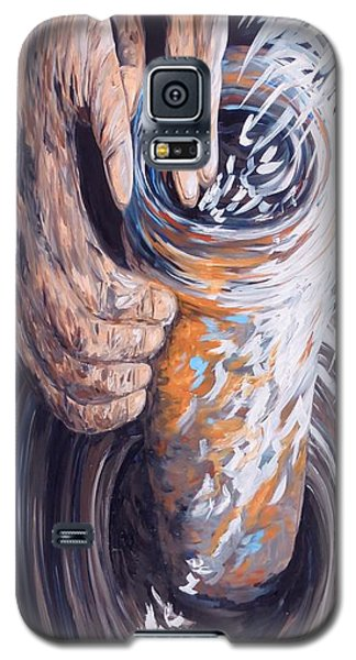 Galaxy S5 Case featuring the painting In The Potter's Hands by Eloise Schneider