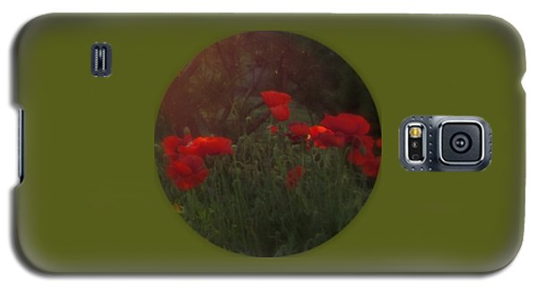 Sunset In The Poppy Garden Galaxy S5 Case by Mary Wolf
