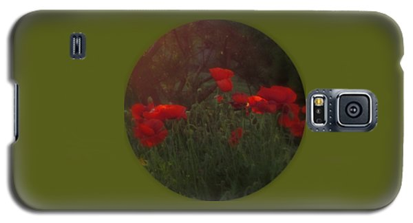 Sunset In The Poppy Garden Galaxy S5 Case