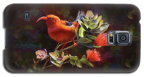 Hawaiian IIwi Bird And Ohia Lehua Flower Galaxy S5 Case