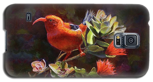 Hawaiian IIwi Bird And Ohia Lehua Flower Galaxy S5 Case