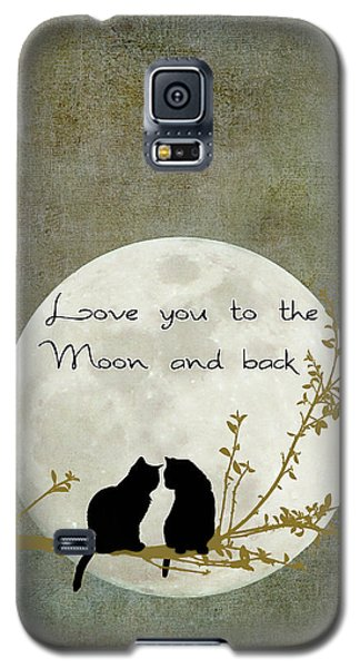 Cats Galaxy S5 Case - Love You To The Moon And Back by Linda Lees