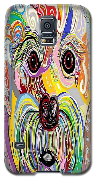 Maltese Puppy Galaxy S5 Case by Eloise Schneider