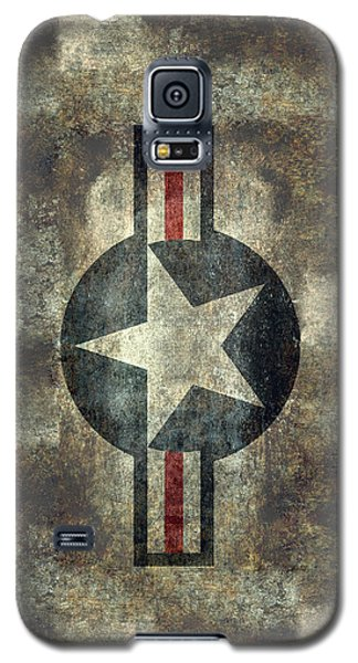 Us Air Force Roundel With Star Galaxy S5 Case by Bruce Stanfield
