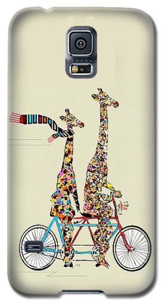 Transportation Galaxy S5 Case - Giraffe Days Lets Tandem by Bri Buckley
