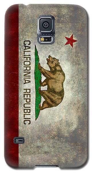 California Republic State Flag Retro Style Galaxy S5 Case by Bruce Stanfield