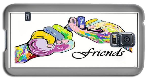 Friends . . . An American Sign Language Painting Galaxy S5 Case by Eloise Schneider