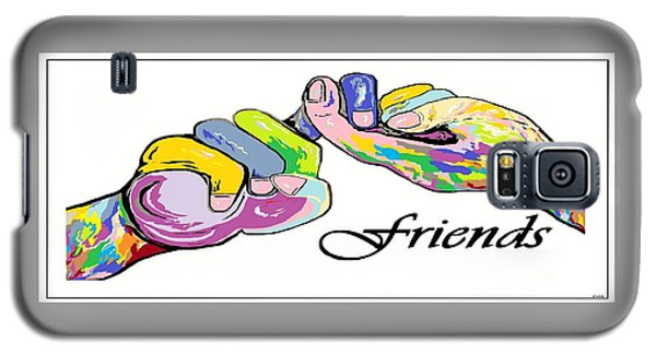 Friends . . . An American Sign Language Painting Galaxy S5 Case