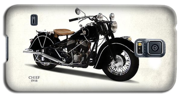 Motorcycle Galaxy S5 Case - Indian Chief 1946 by Mark Rogan