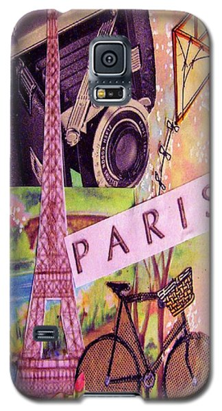 Galaxy S5 Case featuring the drawing Paris  by Eloise Schneider