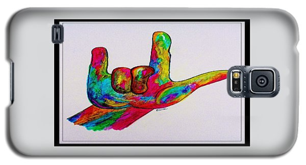 American Sign Language I Love You With A Border Galaxy S5 Case