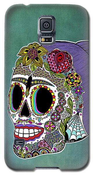 Catrina Sugar Skull Galaxy S5 Case by Tammy Wetzel