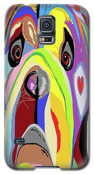 Bulldog Galaxy S5 Case by Eloise Schneider