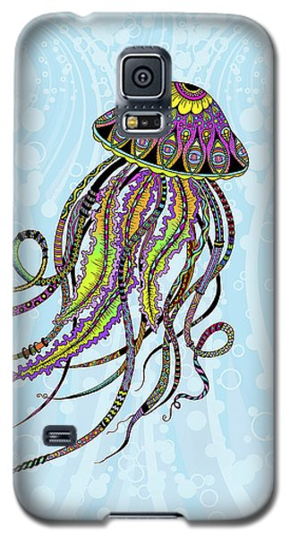 Galaxy S5 Case featuring the drawing Electric Jellyfish by Tammy Wetzel