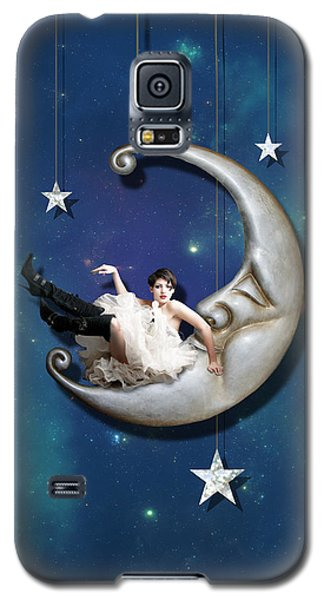 Fantasy Galaxy S5 Case - Paper Moon by Linda Lees