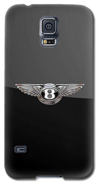 Bentley - 3d Badge On Black Galaxy S5 Case by Serge Averbukh