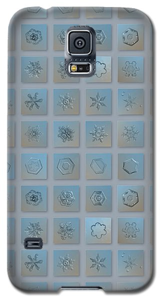 Galaxy S5 Case featuring the photograph Snowflake Collage - Season 2013 Bright Crystals by Alexey Kljatov