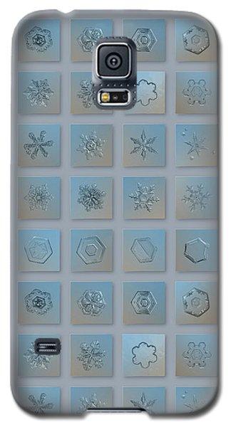 Snowflake Collage - Season 2013 Bright Crystals Galaxy S5 Case