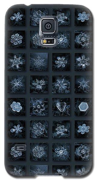 Snowflake Collage - Season 2013 Dark Crystals Galaxy S5 Case