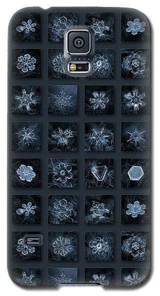 Snowflake Collage - Season 2013 Dark Crystals Galaxy S5 Case