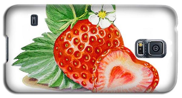Artz Vitamins A Strawberry Heart Galaxy S5 Case by Irina Sztukowski