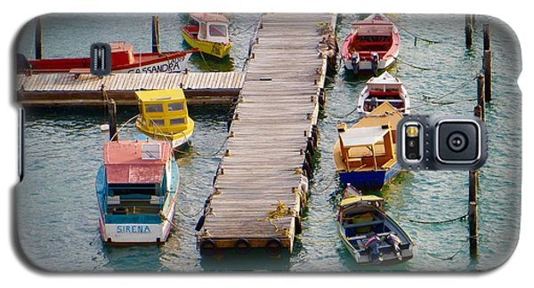 Galaxy S5 Case featuring the photograph Colorful Fishing Boats by Jean Marie Maggi