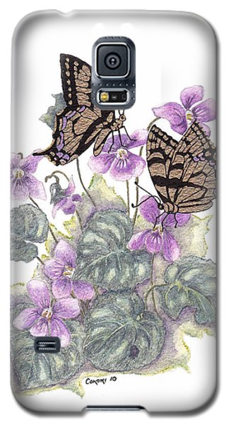 Galaxy S5 Case featuring the painting As Close To The Flowers by Stanza Widen