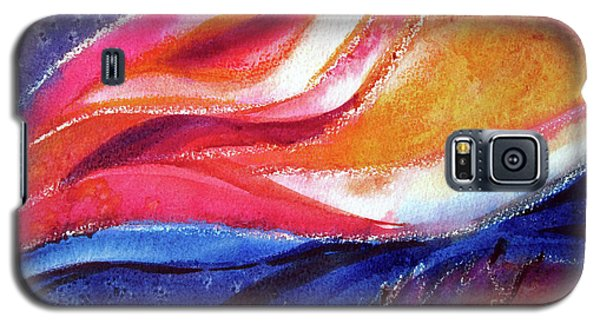 Galaxy S5 Case featuring the painting As I Bloom by Kathy Braud